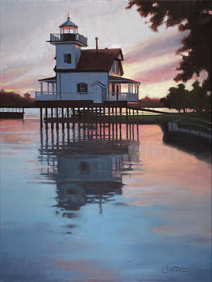 Roanoke Painting - Roanoke River Light by Todd Baxter