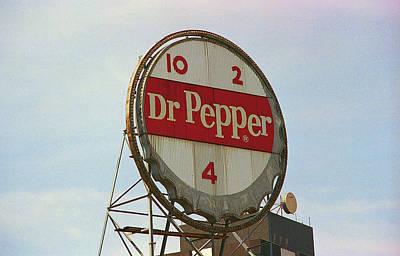 Photograph - Roanoke, Va - Dr. Pepper Bottle Top by Frank Romeo