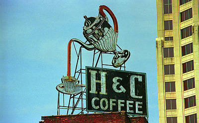 Photograph - Roanoke, Va - H C Coffee Sign by Frank Romeo