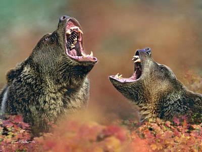 Roaring Bears Art Print