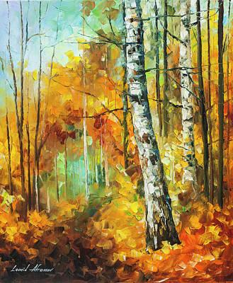 Painting -  Roaring Birch  by Leonid Afremov