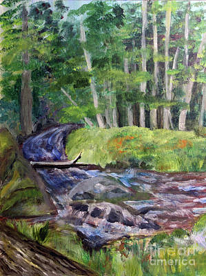 Painting - Roaring Brook by Donna Walsh