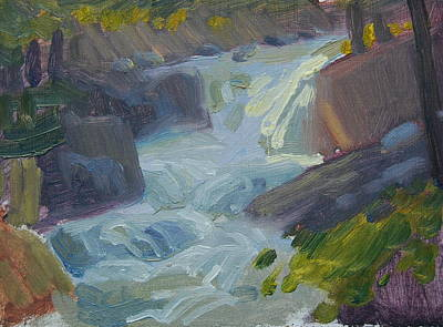 Painting - Roaring Brook Study by Len Stomski