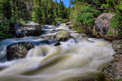 Photograph - Roaring Colorado Ouzel Creek by James BO Insogna