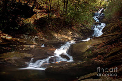 Photograph - Roaring Fork Falls North Carolina - Appalachian Waterfall Water Fall Landscape by Jon Holiday