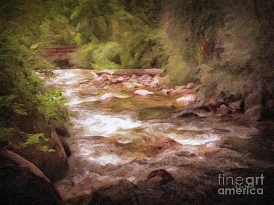 Painting - Roaring Fork River by Stephen Mitchell