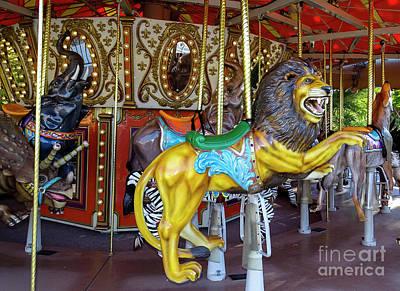 Photograph - Roaring Fun Carousel by Deniece Platt