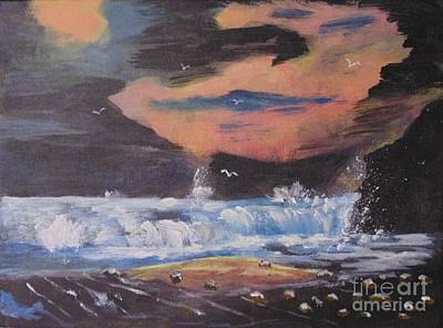 Painting - Roaring Seas by Joe Hagarty