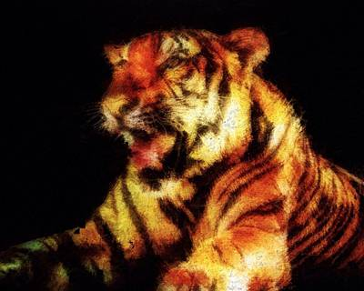 Painting - Roaring Tiger by Mark Taylor