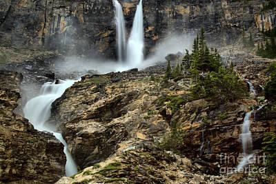 Photograph - Roaring Twin Falls by Adam Jewell