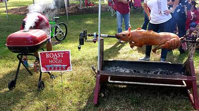 Photograph - Roast The Hawgs by Kenny Glover