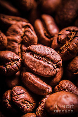 Food And Beverage Royalty-Free and Rights-Managed Images - Roasted coffee bean macro by Jorgo Photography - Wall Art Gallery