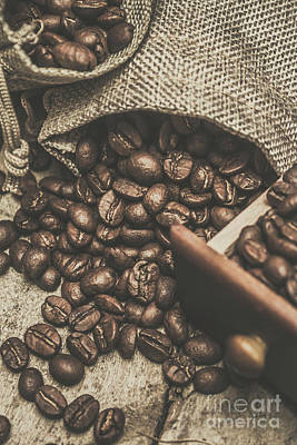 Roasted Coffee Beans In Close-up  Art Print