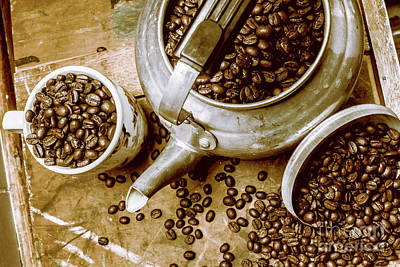 Photograph - Roasted Coffee Beans In Kettle And Cup by Jorgo Photography - Wall Art Gallery