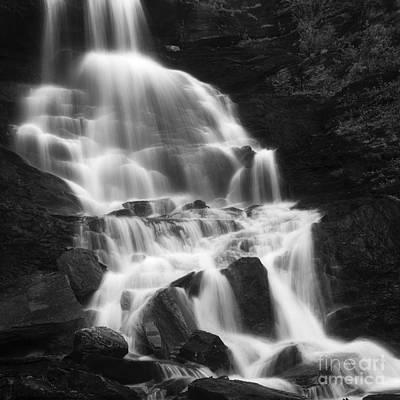 Roasto Waterfall In Nordland, Norway Art Print