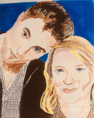Painting - Rob And Mia by Audrey Pollitt