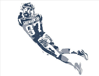 Mixed Media - Rob Gronkowski New England Patriots Pixel Art 10 by Joe Hamilton
