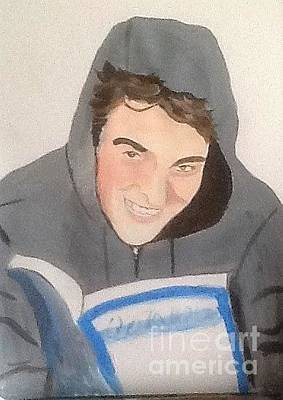 Painting - Rob Readiing by Audrey Pollitt