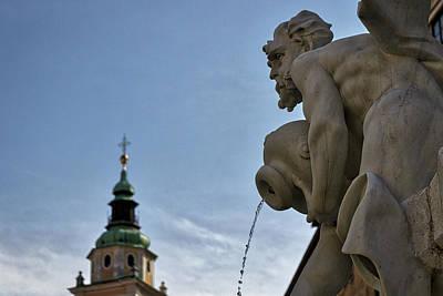 Photograph - Robba Fountain - Ljubljana Slovenia by Stuart Litoff