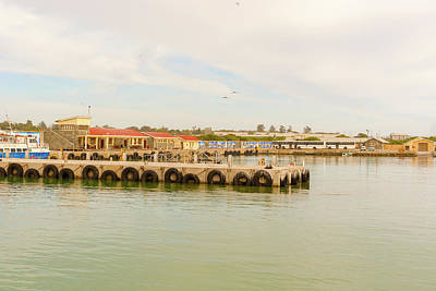 Photograph - Robben Island Dock, As Seen From Ferry Boat, Cape Town, South Af by Marek Poplawski