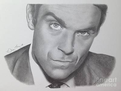 Drawing - Robbie Williams by Karen Townsend