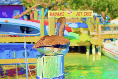 Ocean Sunset Mixed Media - Robbie's Islamorada Kayak Jet Ski Rentals  by Ken Figurski