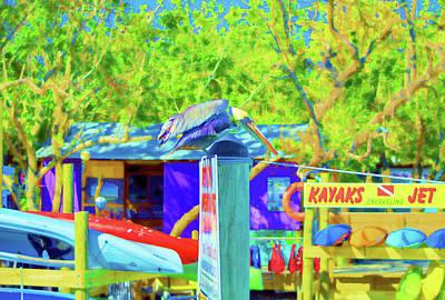 Ocean Sunset Mixed Media - Robbie's Islamorada Kayak Rentals by Ken Figurski