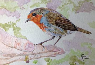 Leighton Moss Wall Art - Painting - Robbin And I by Lisa Straker