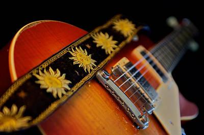 The Les Paul Guitar Photograph - Robby Krieger - 1960 Gibson Les Paul  by Lisa Johnson