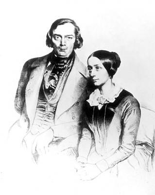 Melancholia Wall Art - Photograph - Robert And Clara Schumann, German by Science Source