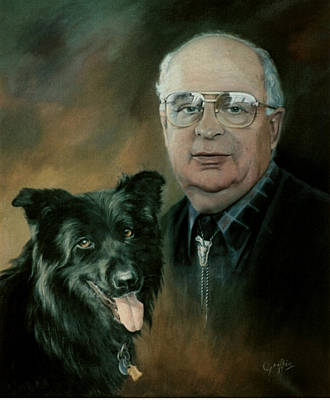 Painting - Robert and  Friend by Mai Griffin