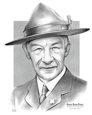 Drawing - Robert Baden Powell by Greg Joens