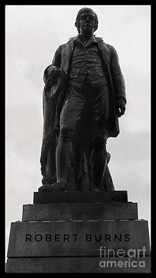 Photograph - Robert Burns At George Square 2 by Joan-Violet Stretch
