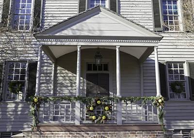 Carter House Photograph - Robert Carter House Porch 01 by Teresa Mucha