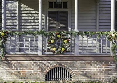 Carter House Photograph - Robert Carter House Porch 03 by Teresa Mucha