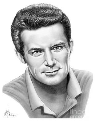 Famous People Drawing - Robert Conrad by Murphy Elliott