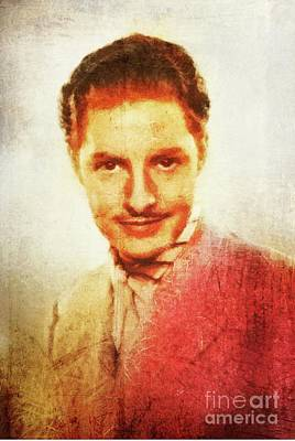 Musicians Royalty-Free and Rights-Managed Images - Robert Donat, Vintage Hollywood Actor by Mary Bassett