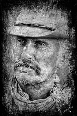 Celebrities Drawing. Celebrity Art Drawing - Robert Duvall As Gus by Andrew Read