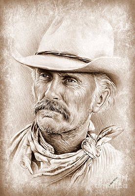 Movie Stars Drawings Drawing - Robert Duvall  The Western Collection by Andrew Read