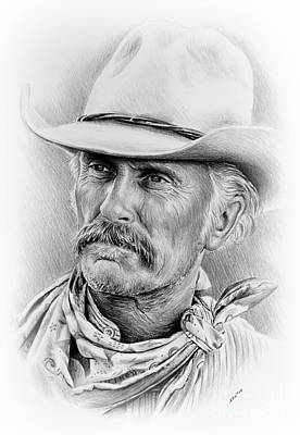 Cowboy Art Drawing - Robert Duvall Ver Two Signed by Andrew Read