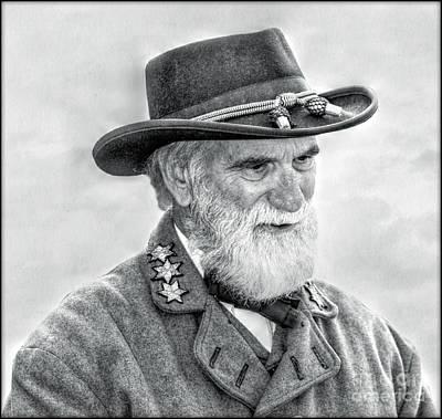 Robert E Lee Confederate General Portrait Art Print by Randy Steele
