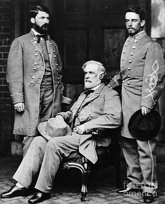 Custis Photograph - Robert E Lee by Matthew Brady
