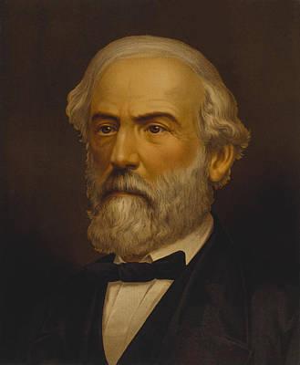 Landmarks Painting Royalty Free Images - Robert E. Lee Painting Royalty-Free Image by War Is Hell Store