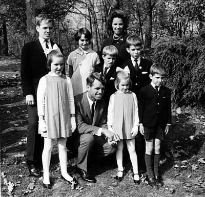 Robert F. Kennedy And Family, Top, L-r Art Print by Everett
