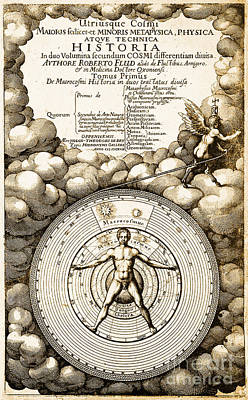 Robert Fludds Book On Metaphysics, 1617 Art Print by Science Source