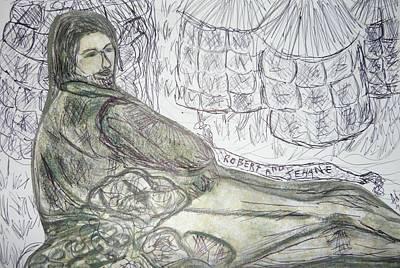 Robert From Poem Haystacks In The Flood Art Print by Adrianne Wood
