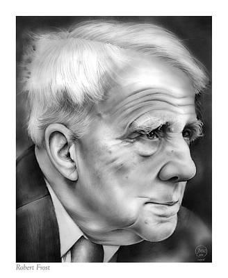 Landmarks Drawings - Robert Frost by Greg Joens
