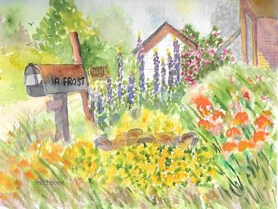 Painting - Robert Frost Homestead by Roseann Meserve