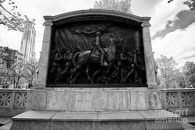 robert gould shaw monument to the 54th massachusetts volunteer infantry Boston USA Art Print