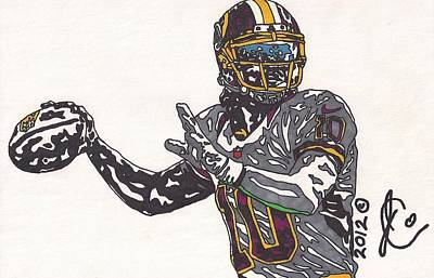 Robert Griffin Iii Drawing - Robert Griffin IIi 2 by Jeremiah Colley